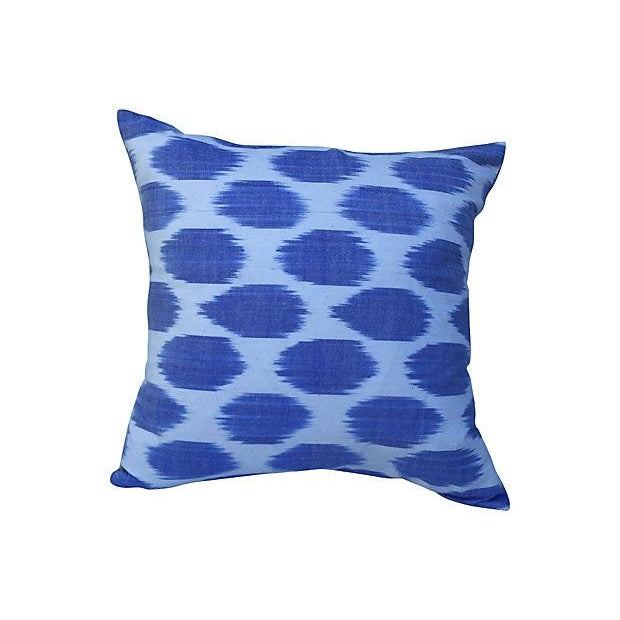 Silk Indigo Dot Pillow - Image 1 of 3