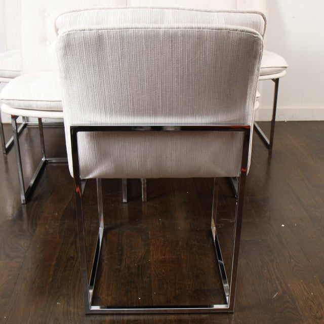 American Milo Baughman for Thayer Coggin Chrome Dining Chairs For Sale - Image 3 of 10