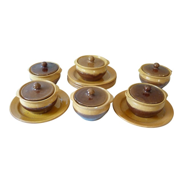 French Onion Soup Bowls - 18 Pieces For Sale