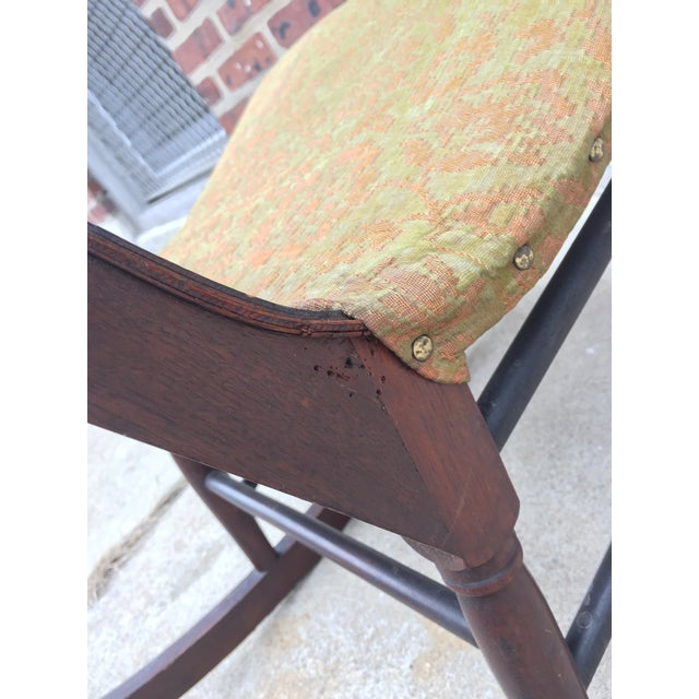 Green *Last Chance* Antique Victorian Child's Rocking Chair For Sale - Image 8 of 13