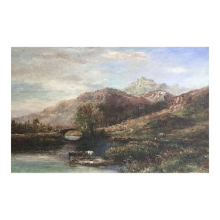 Late 20th century Impressionist Landscape Painting by G. Bassano