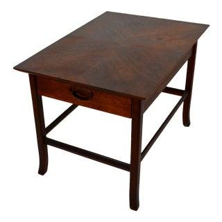 1960s Mid Century Modern Kipp Stewart Walnut End Table W/ Drawer For Sale