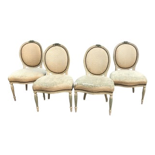 Antique French Dining Chairs - Set of4 For Sale