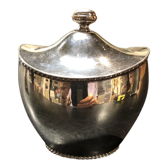 Silver Plate Tea Caddy For Sale
