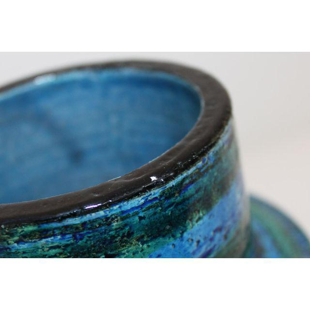 Aldo Londi for Bitossi Rimini Blue Pottery Vase - Image 4 of 5