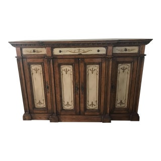 Hooker High-Waisted Handpainted Credenza For Sale