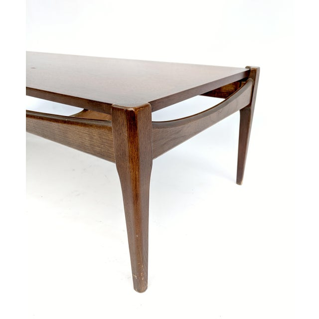 Mid-Century Modern Mid-Century Modern Bassett Furniture Industries Walnut Coffee Table For Sale - Image 3 of 13