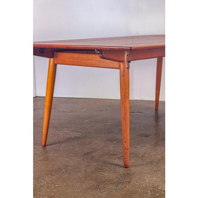 Brass Hans J. Wegner JH570 Exapandable Teak Dining Table for Johannes Hansen For Sale - Image 7 of 11