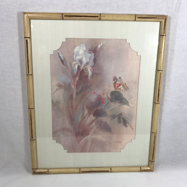 Vintage Faux Bamboo Framed Print Chairish
