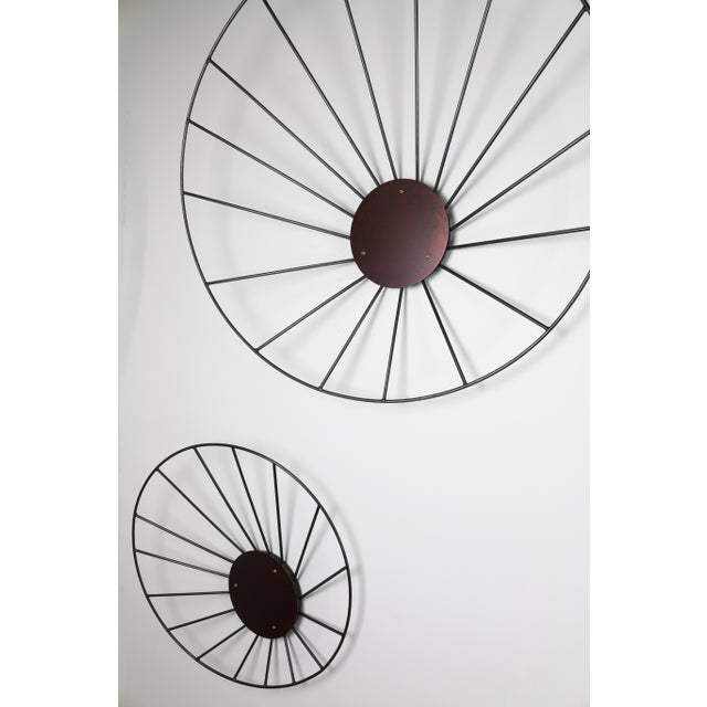 Abstract Kalos Contemporary Steel Wall Sculpture Installation by Topher Gent For Sale - Image 3 of 8