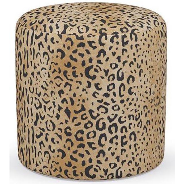 Not Yet Made - Made To Order Drum Ottoman in Leopard For Sale - Image 5 of 5