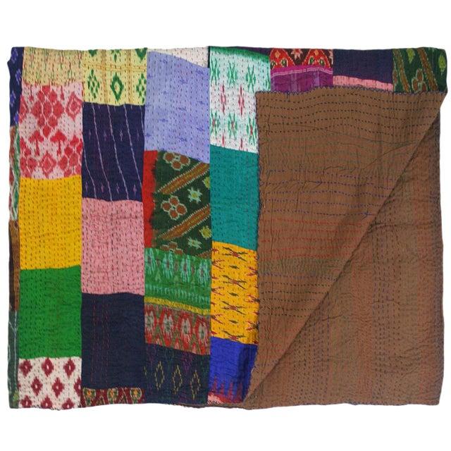 Silk Kantha Quilt | Bedspread - Image 1 of 3