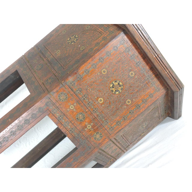Old Morrocan Inlaid Mother of Pearl, Bone & Multi Wood Octagonal Occasional Side Table For Sale - Image 11 of 13