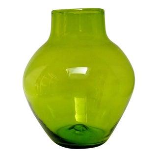 Vintage Blenko Glass Vase For Sale