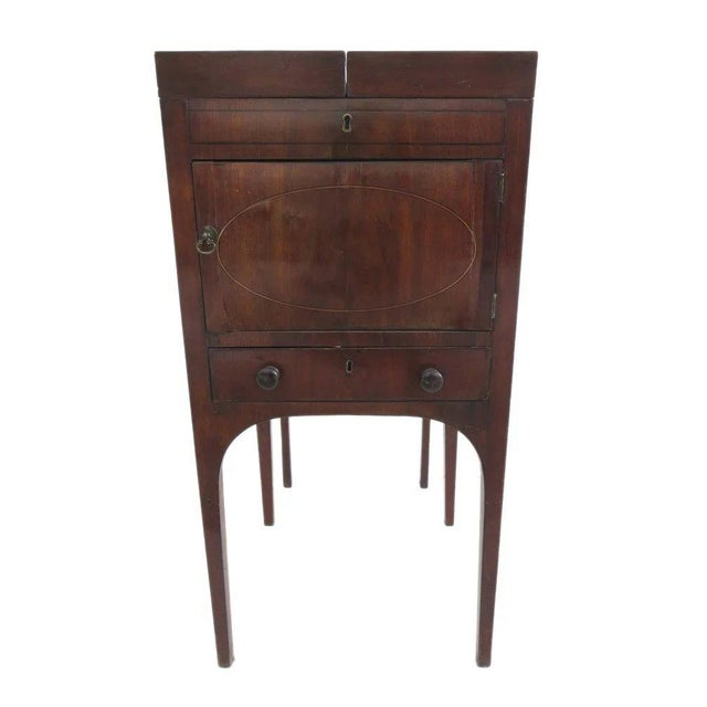 Brown English Mahogany Enclosed Lift Top Dressing Stand For Sale - Image 8 of 10