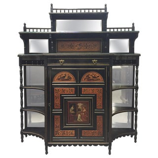 English Aesthetic Movement Painted Cabinet, 19th Century For Sale