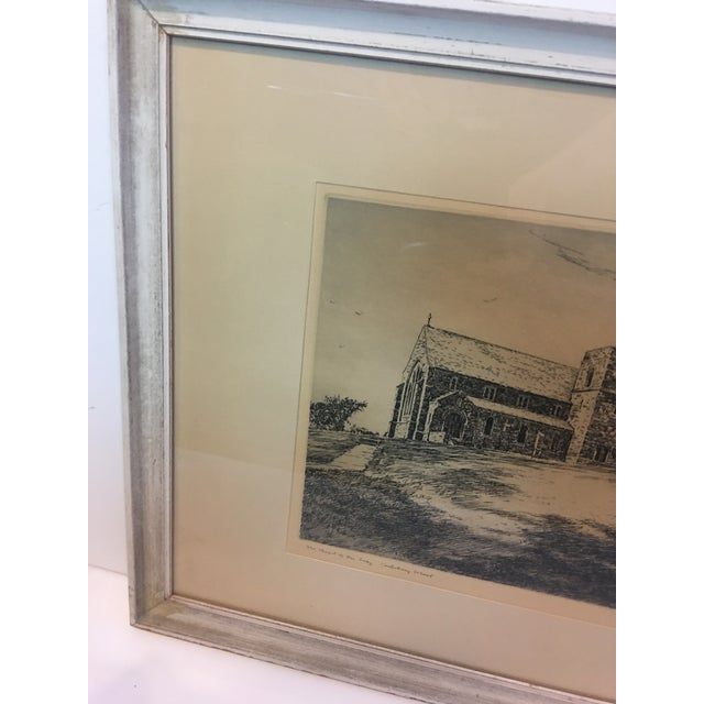 Vintage Canterbury School Chapel Etching by Philip Kappel For Sale In New York - Image 6 of 13