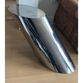 1980's Memphis J. Wade Beam for Brueter Polished Steel Zephyr Table Preview