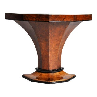 Art Deco Pedestal Console Table For Sale