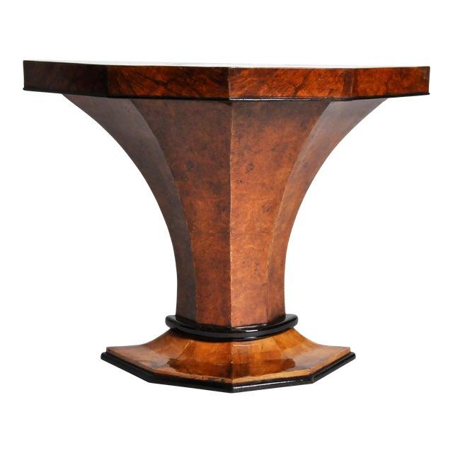 Art Deco Pedestal Console Table For Sale