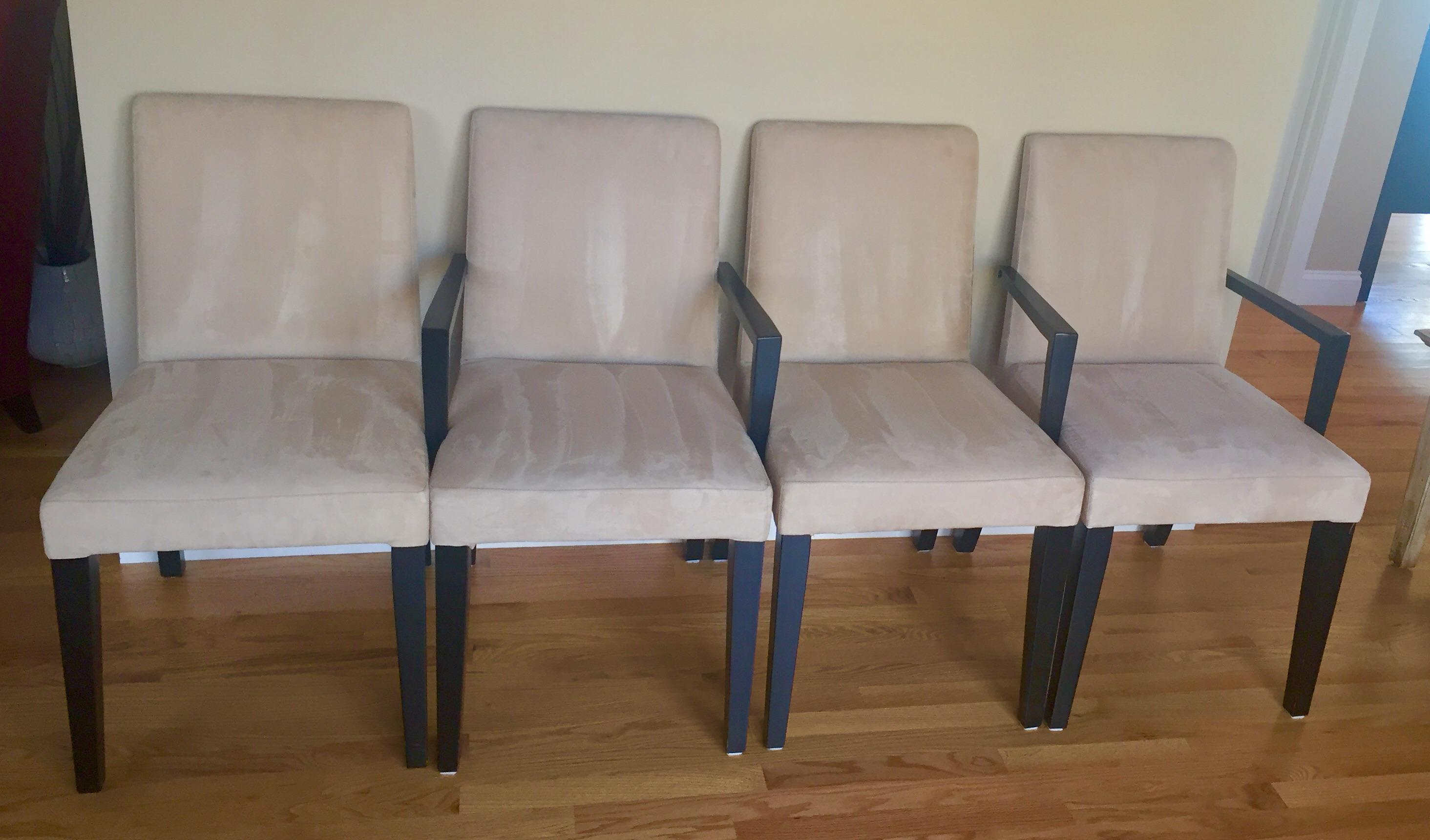 Contemporary Bo Concept Ultrasuede Parson Dining Chairs   Set Of 4 For Sale    Image 3