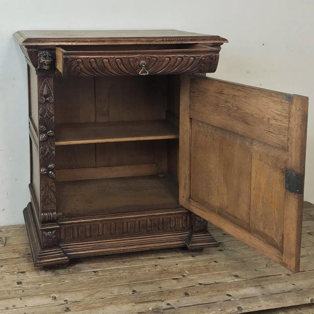 19th Century Flemish Renaissance Cabinet For Sale - Image 4 of 13