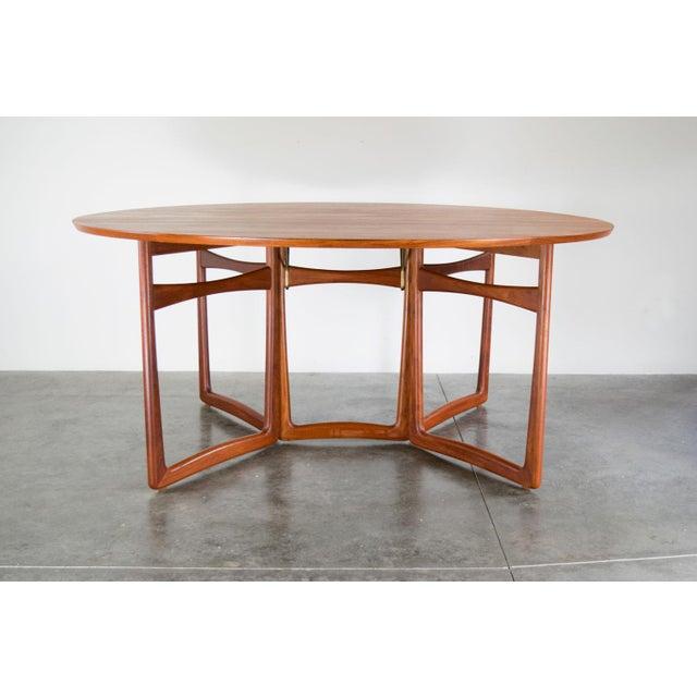Spectacular Peter Hvidt & Orla Molgaard-Nielsen, C. 1960 Teak Dining Table For Sale - Image 13 of 13