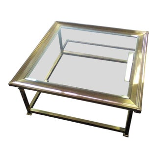 Vintage MasterCraft Brass & Glass Coffee Table