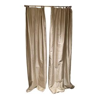 Restoration Hardware Thai Silk Drapes - Set of 8 For Sale