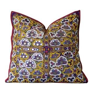 Antique Parvesh Reshmi Sutra Pillow For Sale