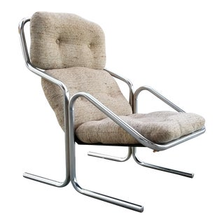 Jerry Johnson Chrome Lounge Chair For Sale