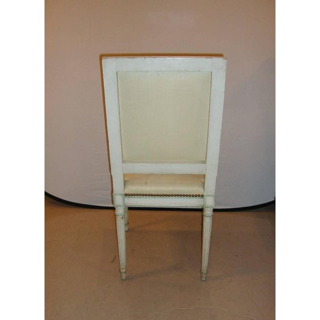 1940s Maison Jansen Paint Decorated Side Chair For Sale - Image 5 of 7
