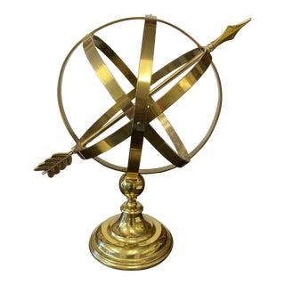 1970s Brass Globe Atlas For Sale