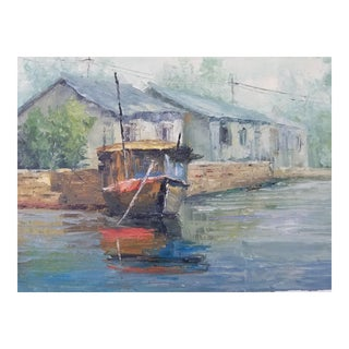 English Boat Painting