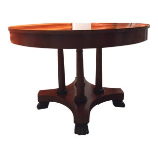 Baker Vintage Palladian Cherry Wood Dining Table For Sale