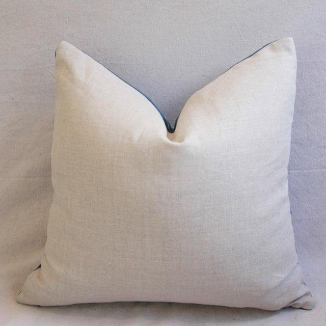Indigo Blue Boho Chic African Mali Mud Cloth Tribal Textile Pillows - Pair - Image 10 of 11