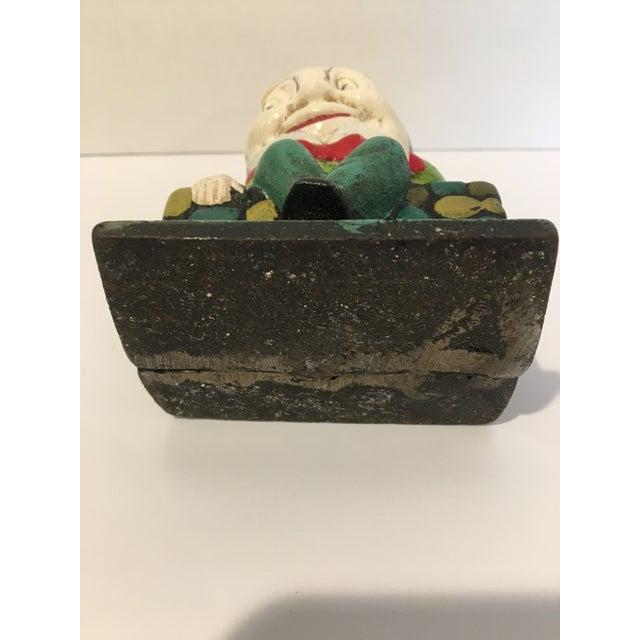 Cast Iron Vintage Cast Iron Humpty Dumpty Bank For Sale - Image 7 of 8