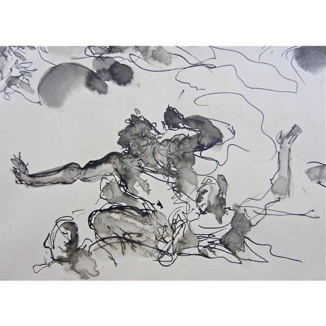 Serge Ivanhoff Figural Studies, 1949 Ink Drawing - Image 5 of 6