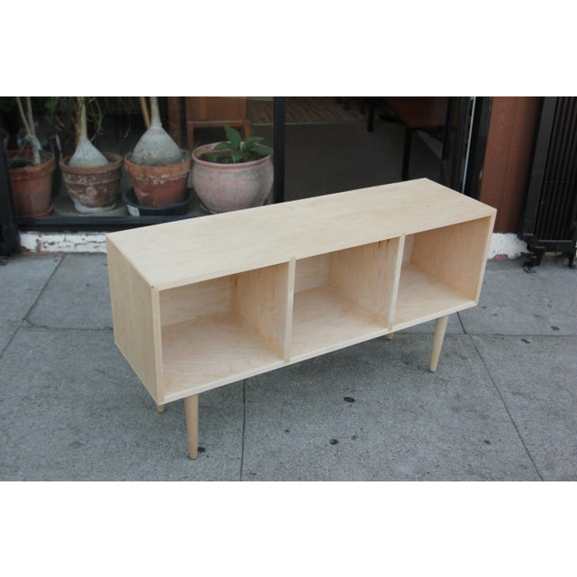 Not Yet Made - Made To Order Mid-Century Maple Vinyl Organizer Credenza For Sale - Image 5 of 12