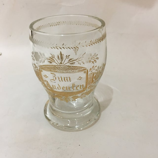 Etched Gold Script Cup For Sale - Image 9 of 9