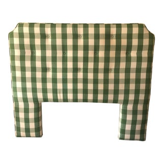 Country Style Upholstered Queen Headboard For Sale