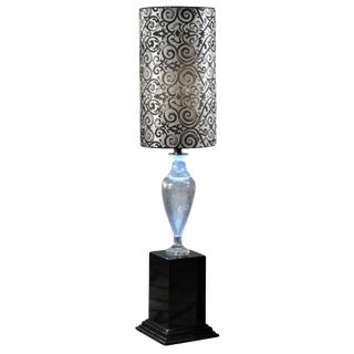 Crystal Amphora Floor Lamps (2 Available) For Sale