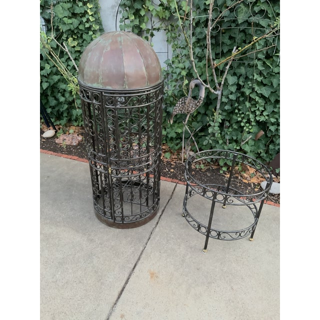 Metal Maitland-Smith Copper Domed and Iron Wine Rack For Sale - Image 7 of 12