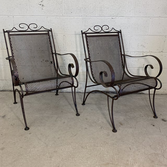 Vintage iron patio chairs at their best! Super comfortable without cushions. Beautiful shape and curved arms are the bomb....