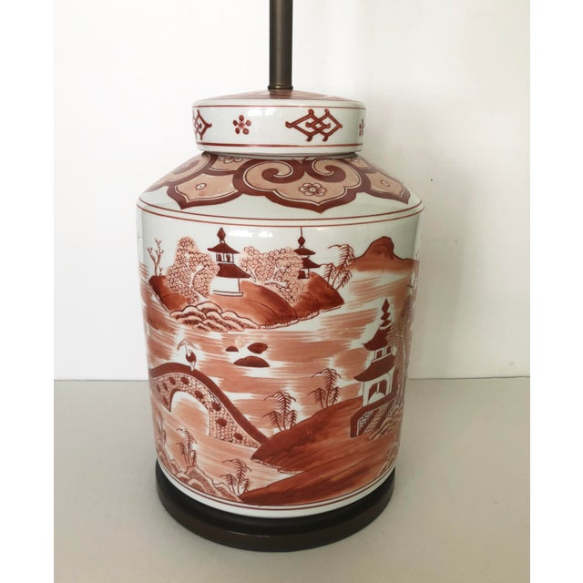 Norman Perry Chinoiserie Ginger Jar Style Lamp For Sale - Image 4 of 13