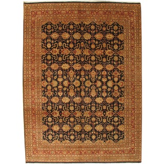 "Pasargad NY Sultanabad Design Hand-Knotted Wool Rug -- 9' X 12'2"" For Sale"