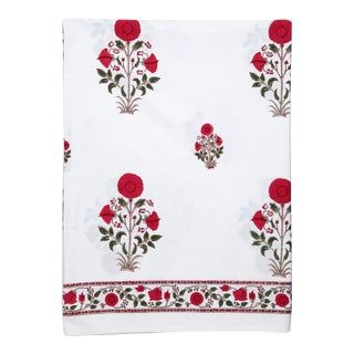 Amaya Fitted Sheet, Queen - Red For Sale