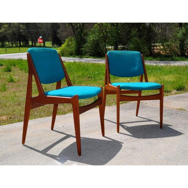 """Green One 1960s Vintage Arne Vodder Solid Teak Danish """"Ella"""" Chair For Sale - Image 8 of 8"""