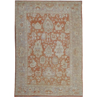 "Hand Knotted Oushak Rug by Aara Rugs Inc. - 10'9"" X 8'2"" For Sale"