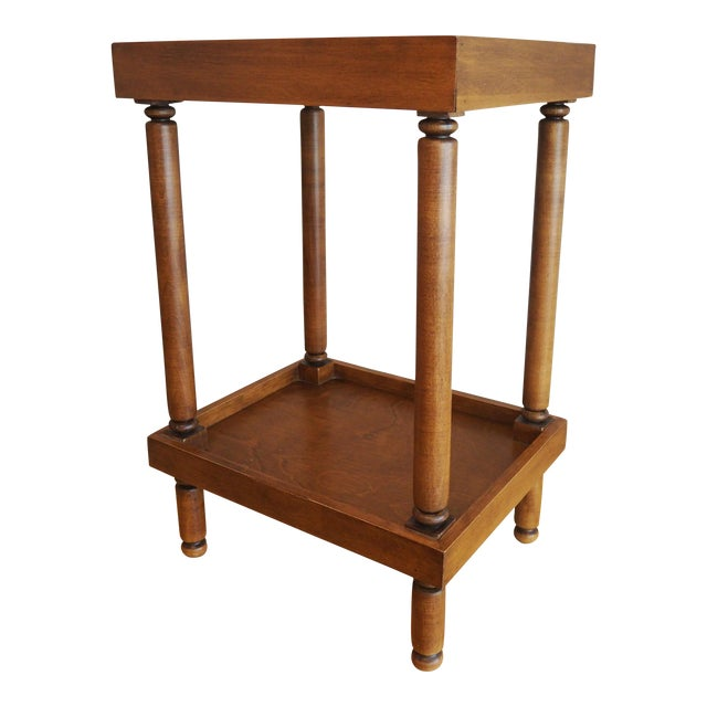 Ethan Allen Handled Side Table - Image 1 of 6